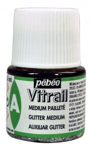 Vitrail Glitter Medium - medium brokatowe do fabr Vitrail