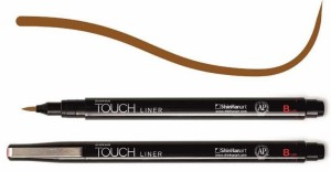 Touch Liner Brush BROWN - pisak pędzelkowy
