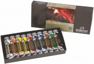 Rembrandt Oil Colour Set 10x15ml - zestaw farb olejnyc