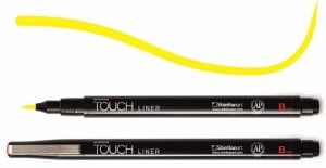 Touch Liner Brush YELLOW - pisak pędzelkowy
