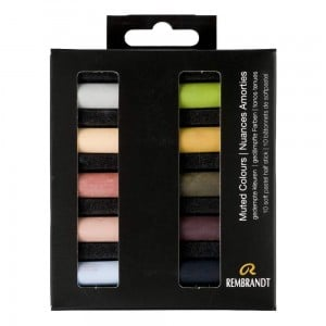 Rembrandt Soft Pastels 10x Half Stick - Muted Colours