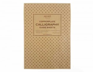 Archie's Calligraphy Copperplate Guide Sheets 1,25mm A4 Landscape120g 50ark - blok do kaligrafii