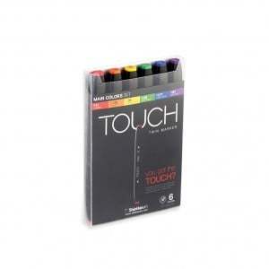 Touch Twin Marker 6 SET [Main Color]