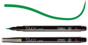 Touch Liner Brush GREEN - pisak pędzelkowy