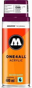 Molotow ONE4ALL SPRAY 400ml #086 burgundy red - spray akrylowy