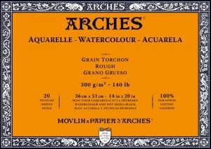 Arches Aquarelle RGH Natural White 300g 20 ark. Blok Akwarelowy
