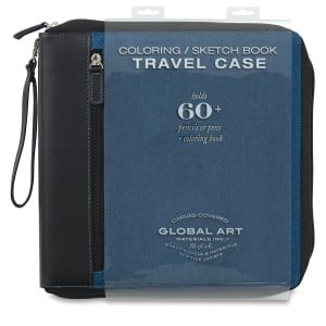 Global Art Medium Travel Coloring Case 25,5x25, 5cm - piórnik artystyczny na 60 kredek + blok