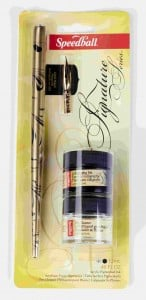 Speedball Zestaw do kaligrafii Signature Black ink & pen cleaner
