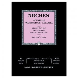Arches Aquarelle HP Natural White 185g 15 ark. Blok Akwarelowy