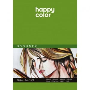 Happy Color Blok do rysunku 300g 15 ark