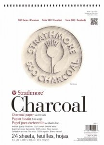 Strathmore 500 series Charcoal 90g 24 ark - blok do rysunku węglem