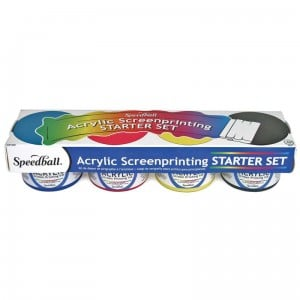Speedball Acryli Screen Printing Set 4x118ml Basic - komplet farb do sitodruku