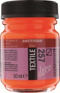 AMSTERDAM Deco Textile 50ml REFLEX ORANGE - farba do tkanin