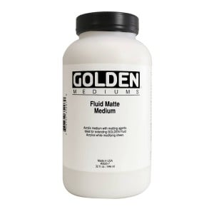 Golden Fluid Matte Medium Medium malarskie