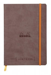 Notatnik RHODIA Goalbook A5 90g Chocolate, kratka