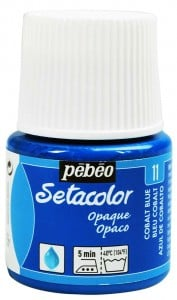 Pebeo Setacolor 45ml Cobalt Blue - farba do tkanin