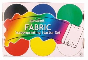 Speedball Fabric Screen Printing Set 6x118ml Basic - komplet farb do sitodruku na tkaninach