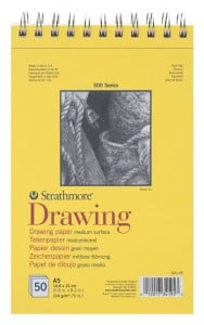 Strathmore 300 series Drawing paper 114g 50 ark - blok do rysunku