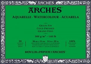 Arches Aquarelle CP Natural White 300g 20 ark. Blok Akwarelowy