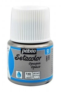 Pebeo Setacolor 45ml Grey - farba do tkanin