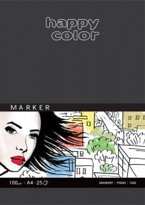 Happy Color Marker Pad 100g 25 ark - blok do markerów