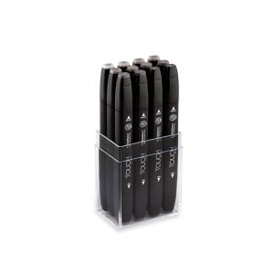 Touch Twin Marker 12 SET Warm Grey - komplet