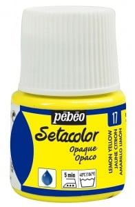 Pebeo Setacolor 45ml Yellow Lemon - farba do tkanin