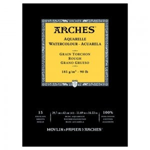 Arches Aquarelle RGH Natural White 185g 15 ark. Blok Akwarelowy