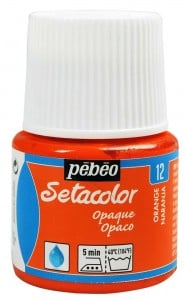 Pebeo Setacolor 45ml Orange - farba do tkanin