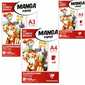 Manga Illustration Layout Paper 100gsm 50ark - blok do markerów