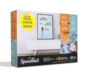 Speedball Intermediate Deluxe Screen Printing Kit - profesjonalny zestaw do sitodruku