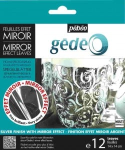 GEDEO Mirror Effect Leaves SILVER 12 płatków 14x14cm