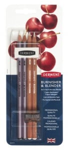 DERWENT Blender i Burnisher + akcesoria - komplet
