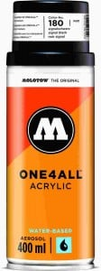 Molotow ONE4ALL SPRAY 400ml #180 signal black - spray akrylowy