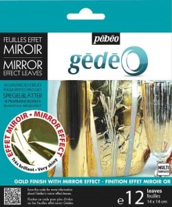 GEDEO Mirror Effect Leaves GOLD 12 płatków 14x14cm