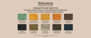 Williamsburg French Earths Set -komplet