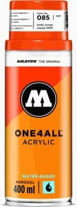 Molotow ONE4ALL SPRAY 400ml #085 DARE orange - spray akrylowy
