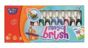 Magic Brush Set 12x15ml - pisaki pędzelkowe wypełnione farbami