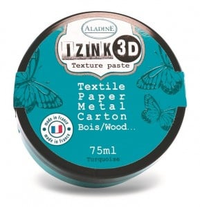 IZINK 3D Texture paste - Pasta 3D metaliczna Turkusowa 75 ml