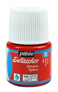 Pebeo Setacolor 45ml Red - farba do tkanin