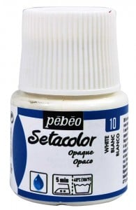 Pebeo Setacolor 45ml White - farba do tkanin