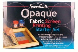 Speedball Fabric Screen Printing Opaque Starter Set 6x118ml - komplet farb do sitodruku na tkaninach