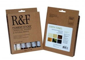R&F Pigment Sticks Earth Tones Set - komplet 6 sztyftów