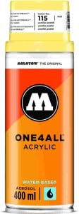 Molotow ONE4ALL SPRAY 400ml #115 vanilla pastel - spray akrylowy