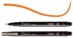 Touch Liner Brush ORANGE - pisak pędzelkowy