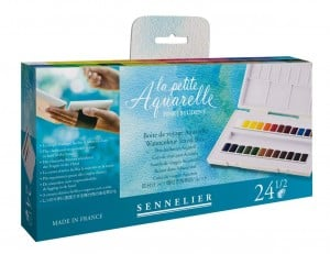 Sennelier La Petite Aquarelle Watercolor Travel Box 24x1/2 kostki - komplet akwareli