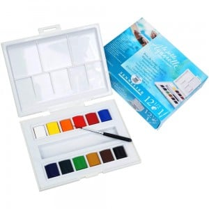 Sennelier La Petite Aquarelle Watercolor Travel Box 12x1/2 kostki - komplet akwareli