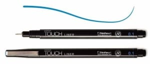 Touch Liner 0,1 mm BLUE - cienkopis