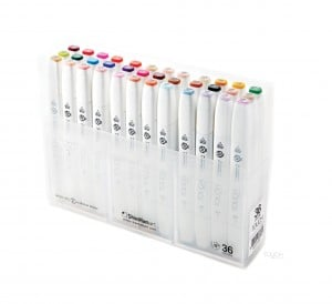 Touch Twin Brush Marker 36 SET- komplet